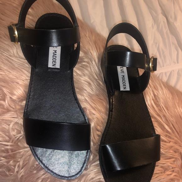 63b626d7606 Steve Madden sandals- Donddi black leather 6.5 NWT